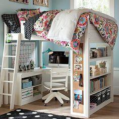 #loft #bed. Would shelves be a good brace?