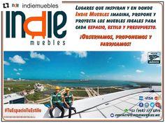 #Repost @indiemuebles with @repostapp  Lugares que inspiran y en donde #IndieMuebles imagina propone y proyecta los muebles ideales para cada espacio estilo y presupuesto.  #IndieMuebles #TuEspacioTuEstilo #Promociones #Muebles #Persianas #PersianasDecorativas #MueblesPorCatálogo  #MueblesPorDiseño #Cancún #PlayaDelCarmen #RivieraMaya #Tulum #México