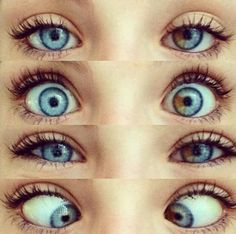 Beautiful. I know someone with blue eyes and a brown piece like that. I love it.