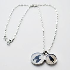 custom silhouette necklace