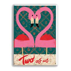 Flamingo Card  £2.50  A beautiful greeting card, left blank inside for you to personalise with your prose! Perfect for an anniversary or a wedding!
