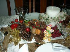 Decoração para mesa da ceia do Natal!