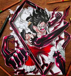 A Lot Of manga And Anime Drawing Styles Luffy Gear Fourth, Luffy Gear 4, One Piece Ace, One Piece Luffy, Anime Drawing Styles, One Piece Drawing, Manga Anime One Piece, Gamers Anime, Black Anime Characters