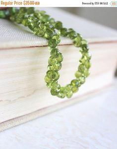 Super SALE Peridot Gemstone Faceted Green by somsstudiosupplies