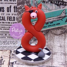 Vela Decorada Foxy - Five Nights at Freddy's (FNAF) - Paty's Biscuit