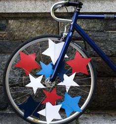bike parade. In my basket: permission slips, first aid kit, bike pump, water bottle, spray bottle.