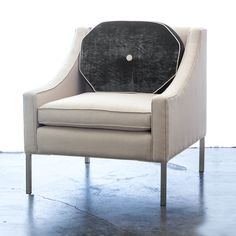 Sloane Lounge Chair - Gilt Home Daybed In Living Room, Extra Rooms, Round Pillow, Fine Furniture, Tub Chair, Home Projects, Interior Decorating, Holiday Decorating, Accent Chairs