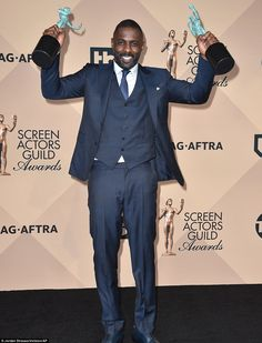Two trophies: Idris Elba won an acting award in both the film and TV categories