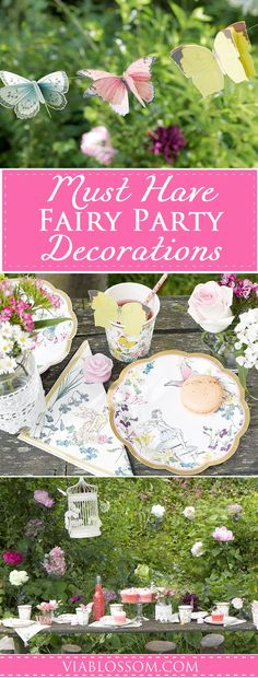 Must Have Fairy Party Supplies You will fall in love with the magic of our Fairy Party Ideas and Decorations! All the Fairy Party Supplies you will need for a whimsical Fairy Party! Fairy Birthday Party, Birthday Party Themes, Birthday Ideas, 4th Birthday, Fairy Tea Parties, Tea Party, Garden Parties, Kid Parties, Enchanted Forest Party