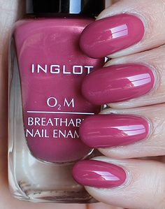 Gorgeous color from Inglot Cosmetics! Inglot Nail Polish, Best Nail Polish, Nail Polish Colors, Nail Polishes, Love Nails, Pretty Nails, My Nails, Beauty Treats, Fabulous Nails