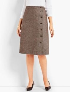 Talbots: Donegal Tweed A Line Skirt Blouse And Skirt, Dress Skirt, Midi Skirt, Long Maxi Skirts, A Line Skirts, Pencil Skirt Outfits, Cute Dresses, High Waisted Skirt, Fashion Dresses