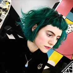 Green hair from Not Another Salon (@notanothersalon)