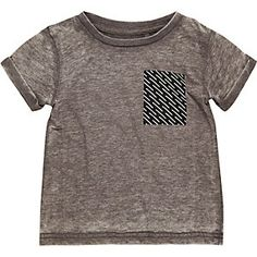 Mini boys grey burnout t-shirt