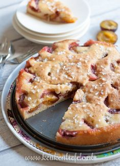 Makkelijke pruimentaart Dutch Recipes, Tart Recipes, Sweet Recipes, Baking Recipes, Baking Ideas, Bake My Cake, Pie Cake, Far Breton, Baking Bad
