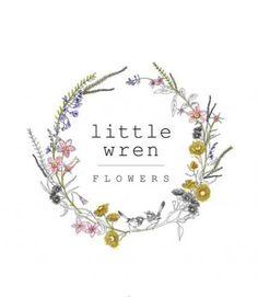 Ideas For Wedding Design Logo Floral Wreaths Logo Inspiration, Logo Floral, Flower Logo, Draw Logo, Florist Logo, Watercolor Logo, Shop Logo, Botanical Illustration, Business Logo