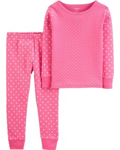 Heart-Themed SHORT PINK PAJAMAS BOOTIES SNUGGLY fits American Girl DONUT