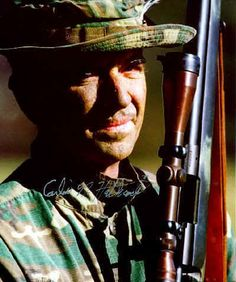 Gunnery Sergeant Carlos Hathcock, USMC. Sniper credited with 93 confirmed kills during the Vietnam War.