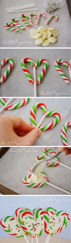 Candy Cane Hearts Pops.                                                                                                                                                                                 More