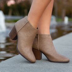 """Made with patent leather, booties run true to size with a zipper up the back. Heel: 3"""" Casual Work Shoes, Shoes For Work, Business Casual Shoes Women, Comfy Work Outfit, Black Ankle Booties, Ankle Booties Outfit, Leather Booties, Professional Shoes, Closed Toe Shoes"""