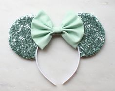 Hey, I found this really awesome Etsy listing at https://www.etsy.com/listing/234988644/mint-sequin-mouse-ears