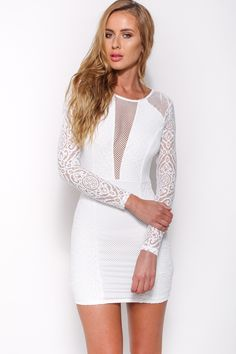 True To You Dress, White, $65 + Free express shipping http://www.hellomollyfashion.com/true-to-you-dress-white.html