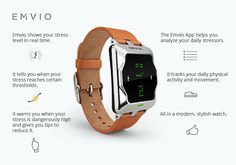 Emvio is a Watch That Can Eradicate Stress! -  #app #health #stress #watch