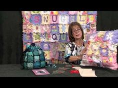 Raggy -edge patchwork bag, quilt and cushion  - taster video