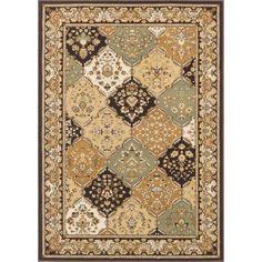 Machine made of beautiful and durable polypropylene, this rug features a beautiful Oriental pattern. A rich tone of coffee highlights this multi-colored floor rug.
