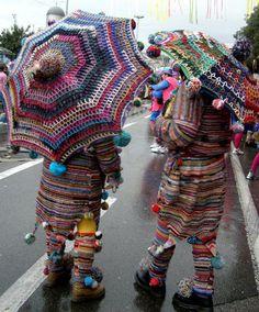 morris dancing meets yarn bombing!
