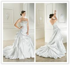 Wholesale 2015 Lace Crystals Ruched Pleated Ruffles Draped Backless Vestidos de novia Romantic Long Wedding Dress Bridal Gowns Custom Made, $225.14/Piece | DHgate Mobile