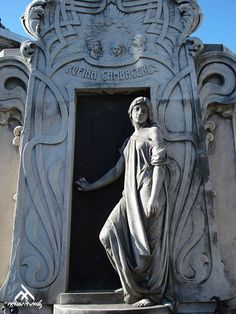 Tomb of Rufina Cambaceres. Art Nouveau, work of Richard Aigner (1902).  Buenos Aires ~ Cementerio de la Recoleta (La Recoleta Cemetery).