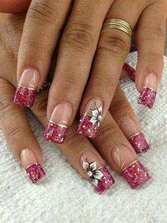 Flower Nails Beautiful Nail Art Designs Pink Fancy