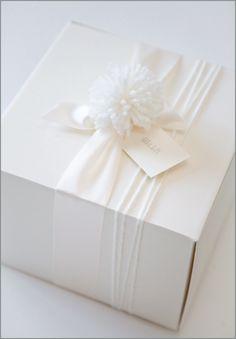 White on white wrapping.