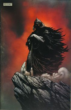 """He's Close"" (Death Dealer panel by Nat Jones) Fantasy Sword, Fantasy Warrior, Fantasy Rpg, Dark Fantasy Art, Dark Art, Frank Frazetta, Fantasy Heroes, Fantasy Characters, Fantasy Paintings"