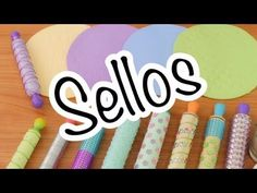 Cómo hacer tus propios sellos y rodillos - YouTube