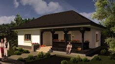 Model 70mp | Case de top House Architecture Styles, Mud House, Village Houses, Story House, Design Case, Building Plans, Traditional House, My Dream Home, Home Projects