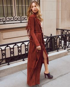 Doesn't get much better than a fringed suede trench coat @shopbop