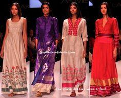 Rahul mishra Maxi dresses -LFW A/W 2013