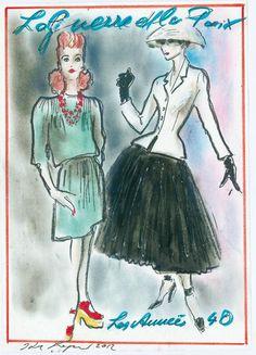 Histoire de la mode par Karl Lagerfeld |années 40