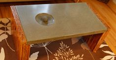 Bon Concrete Coffee Table Top With Wood And Steel Frame By Yves St, Hilaire |  Concrete Exchange