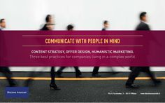 Communicate with people in mind. | Biscione Associati via Slideshare