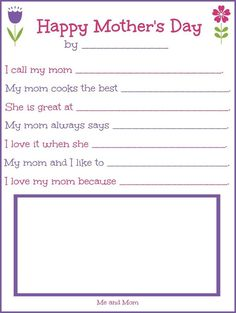Motheru0027s Day Printable