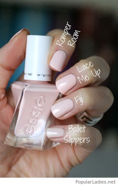 Neuer genialer Essie Gel Nagellack, New awesome essie gel nail polish Neuer genialer Essie Gel Nagellack Neuer genialer Essie Gel Nagellack. Essie Gel Nail Polish, Essie Nail Colors, Light Pink Nail Polish, Neutral Nail Polish, Gel Nail Polish Designs, Nail Colors For Pale Skin, Pale Pink Nails, Gel Nail Polish Colors, Spring Nail Colors