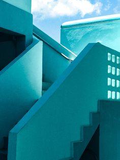 Vishal Marapon Photography, Light blue stairs