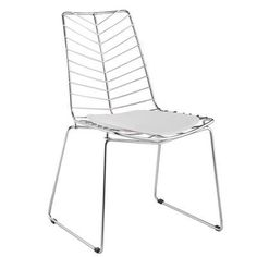 Fine Mod Imports Wire Leaf Side Chair Color: White