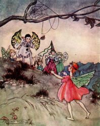 Oh! Oh!! Oh!!! they cried as they caught sight of her - The Magic Kiss by Christine Chaundler, 1916