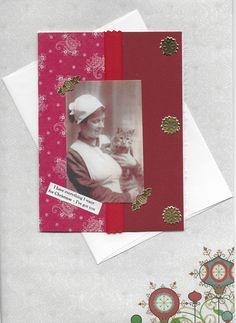 Christmas Card for Cat Lovers - Victorian Vintage Style - Kitty, You Mean Everything to Me - pinned by pin4etsy.com