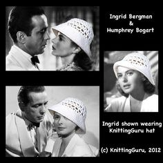 You may not look like Ingrid Bergman or have Humphrey Bogart mooning over you, but you can #Crochet this  #DIY Easy 1940s Retro Sun Hat in just an evening or two! #KnittingGuru http://www.pinterest.com/KnittingGuru