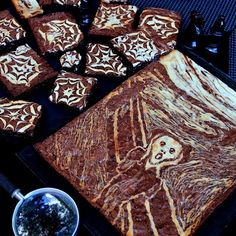 Hats off to Edvard Munch, the Norwegian expressionist painter whose famous painting, The Scream, inspired me to make these Halloween Scream Cheese Brownies, together with a second recipe of spider … Japanese Hot Cakes Recipe, Japanese Cheesecake Recipes, Japanese Cake, Frosting Recipes, Cupcake Recipes, Cupcake Cakes, Dessert Recipes, Filipino Desserts, Asian Desserts