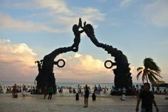 #Sunset in #PlayaDelCarmen